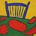 180 Table with chair and water melons